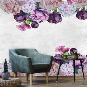 fototapeta-dla-podologa w fioletowe kwiatuszki