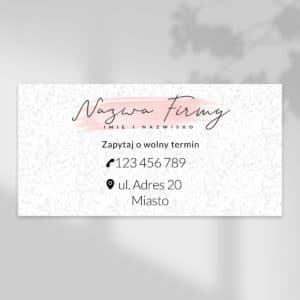 baner dla stylistki paznokci rózowe logo