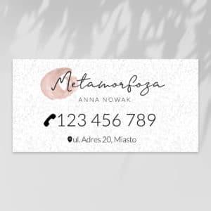 baner reklamowy do salonu kosmetycznego z marmurem