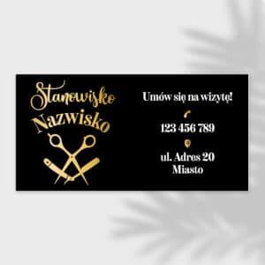 baner reklamowy dla barbera złota brzytwa