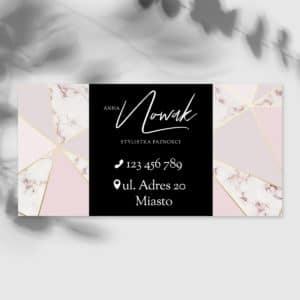 baner reklamowy dla studia urody z różowym marmurkiem