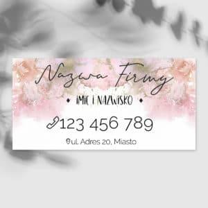 baner dla stylistki paznokci różowy