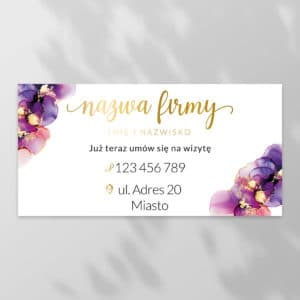 baner reklamowy do studia kosmetycznego fioletowe