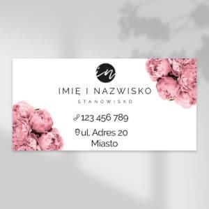 baner reklamowy do studia urody w różowe kwiaty