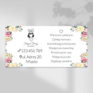 baner reklamowy do studia urody kwiaty