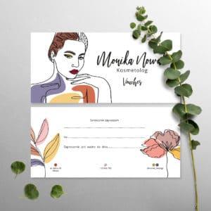 bony upominkowe dla kosmetyczki minimalistyczny szkic