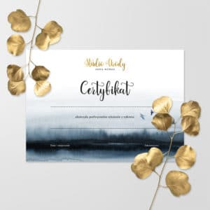 certyfikaty na kursy beauty złote logo