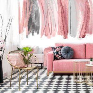 fototapeta dla makeup artist różowe smugi