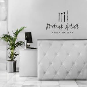 samoprzylepne logo na ścianę do salonu kosmetycznego