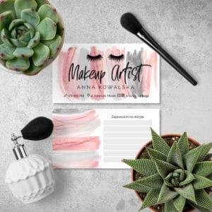 wizytówki kolejna wizyta do gabinetu kosmetycznego różowe