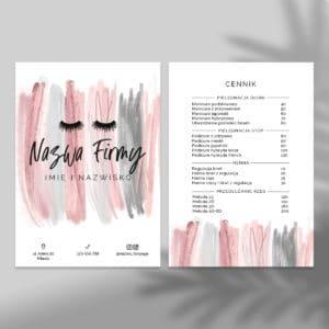 ulotka dla makeup artist różowe smugi
