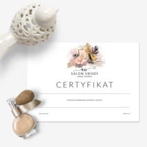 certyfikaty ukończenia szkolenia dla kosmetologów