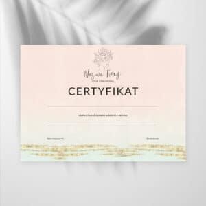 certyfikaty na szkolenia dla kosmetyczek