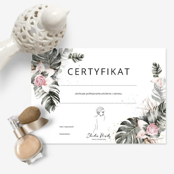 certyfikaty na szkolenia liscie