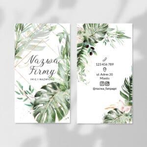 wizytówki dla wizażystki tropikalne