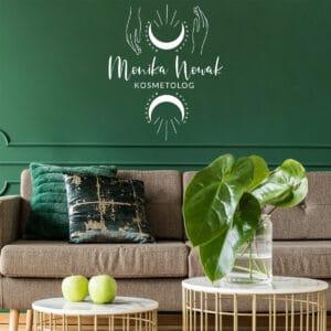 logotyp na ścianę do studia urody