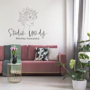 logo na ścianę dla kosmetyczki