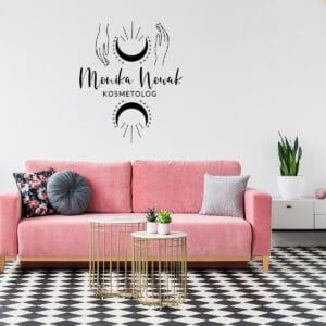 logotyp na ścianę dla kosmetyczki