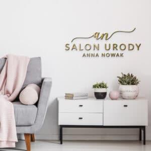 logotyp 3D do salonu kosmetycznego