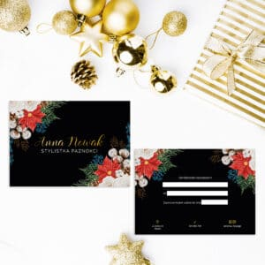 świąteczne bony podarunkowe do gabinetu kosmetycznego