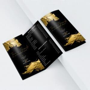 broszura z cennikiem dla kosmetyczki