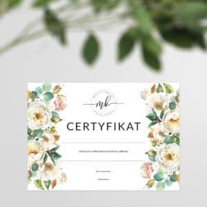 certyfikat na szkolenia dla kosmetologów
