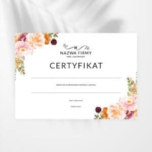 certyfikat na szkolenie kosmetyczne