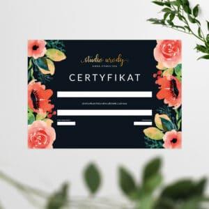 certyfikat do salonu kosmetycznego