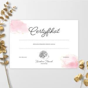 certyfikat do salonu fryzjerskiego