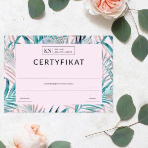 certyfikat dla makijażystka