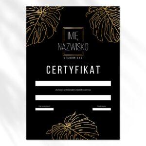 certyfikat dla wizażystki