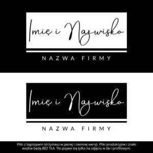 logotyp dla wizażystki