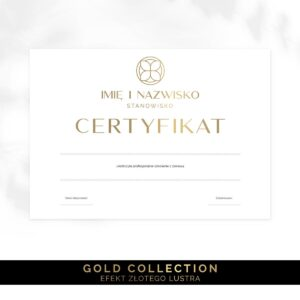 złoty certyfikat na szkolenia