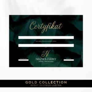 Złocone certyfikaty dla makijażystki
