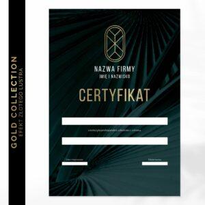 Certyfikat ze złoceniem dla podologa