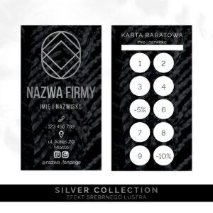 srebrne karty rabatowe do salonu kosmetycznego