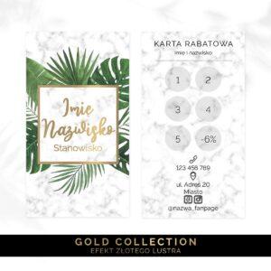 złota karta rabatowa dla makijażystki