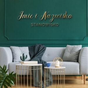 Logo na ścianę dla kosmetologa