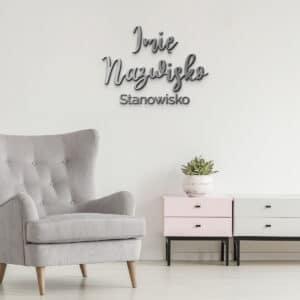 Logo na ścianę dla podologa