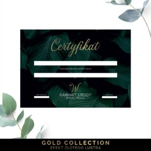 Złocone certyfikaty dla kosmetyczki