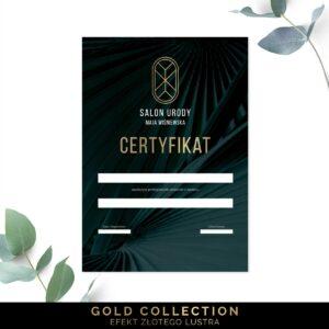 Pozłacane certyfikaty dla kosmetyczki
