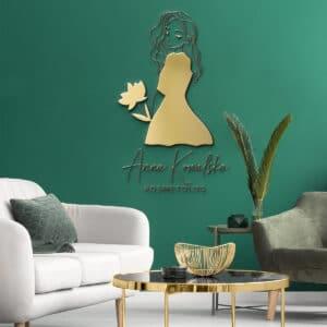 logo 3D na ścianę w salonie kosmetycznym