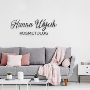 Logotyp na ścianę dla trychologa