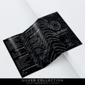 srebrzone broszury do gabinetu kosmetycznego