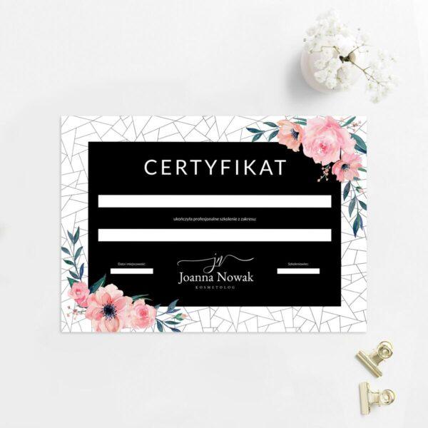 Certyfikat dla stylistki brwi