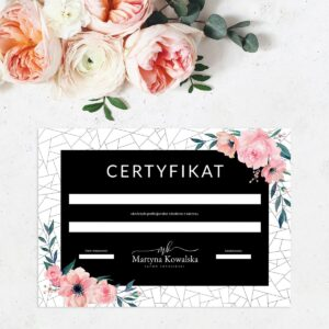 Certyfikat dla makijażystki