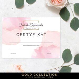 Pozłacany certyfikat