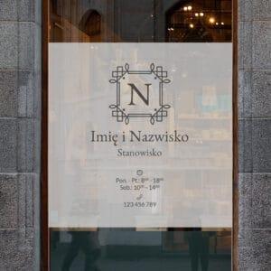 reklama na okno do salonu kosmetycznego