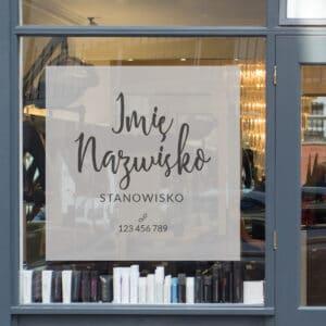 reklama na okno dla makijażystki