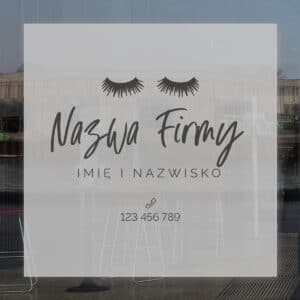 reklama na okna do studia modelowana twarzy